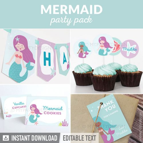 mermaid party decorations printables