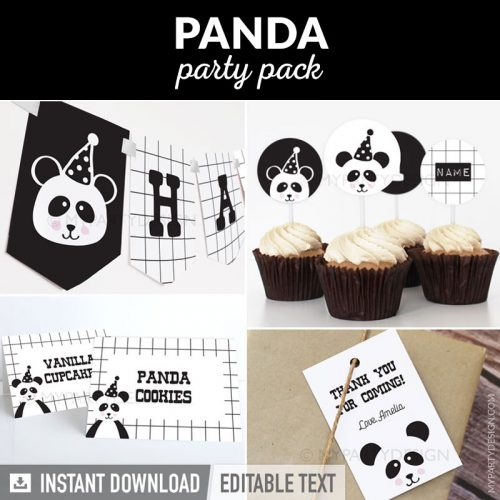 Panda Party decorations printables