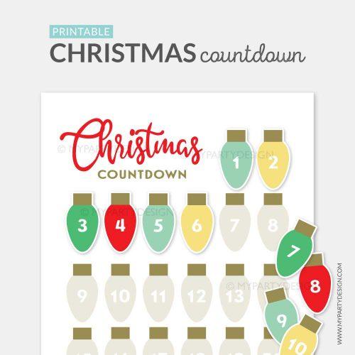 printable christmas advent calendar